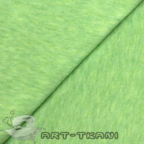 Лоскут трикотажной  ткани Салатовый меланж