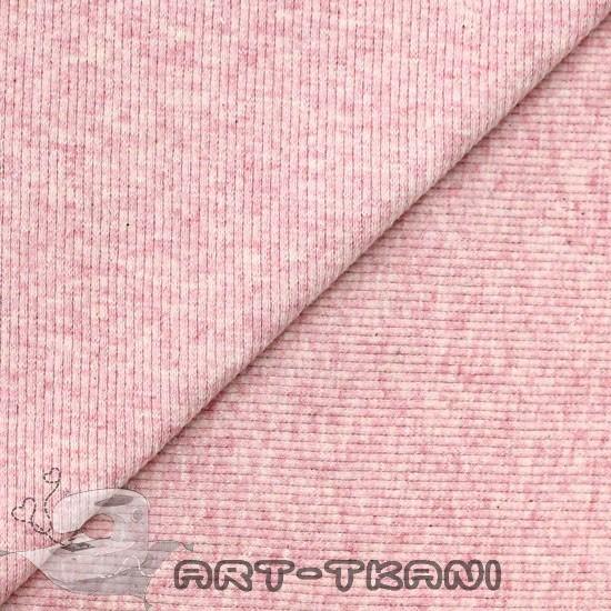 Лоскут трикотажной ткани кашкорсе Розовый меланж Ivory