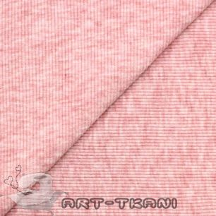 Лоскут трикотажной ткани кашкорсе Розовый меланж
