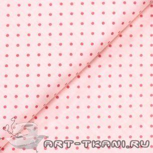 """Ткань """"Горошек на розовом """" 0,5 метра- хлопок 100%"""