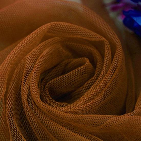 Мягкий фатин Пастель-коричневый
