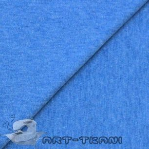 Лоскут трикотажной  ткани Джинсово-синий меланж