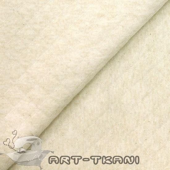 Лоскут трикотажной  стеганной ткани - Капитоне экрю