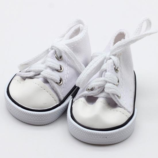 Обувь для кукол кеды, кроссовки - белые