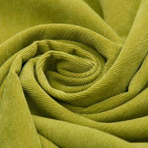 Вельвет в рубчик зеленый