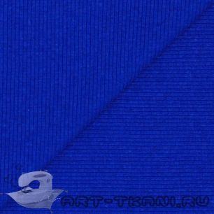 Лоскут трикотажной ткани кашкорсе Синий