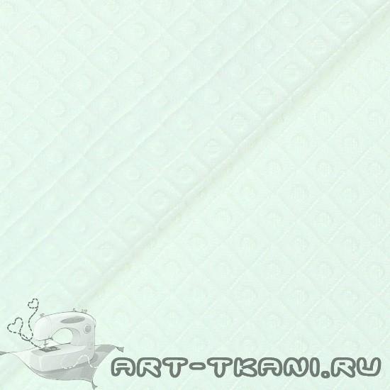 Лоскут трикотажной стеганной ткани Белый
