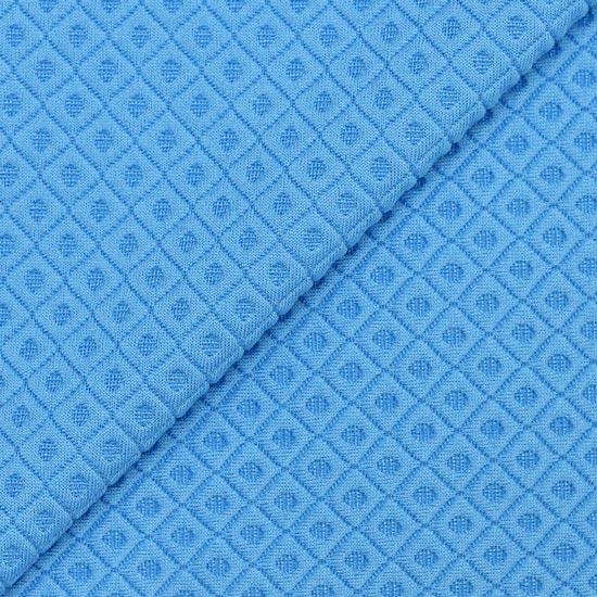Лоскут трикотажной стеганной ткани Синий