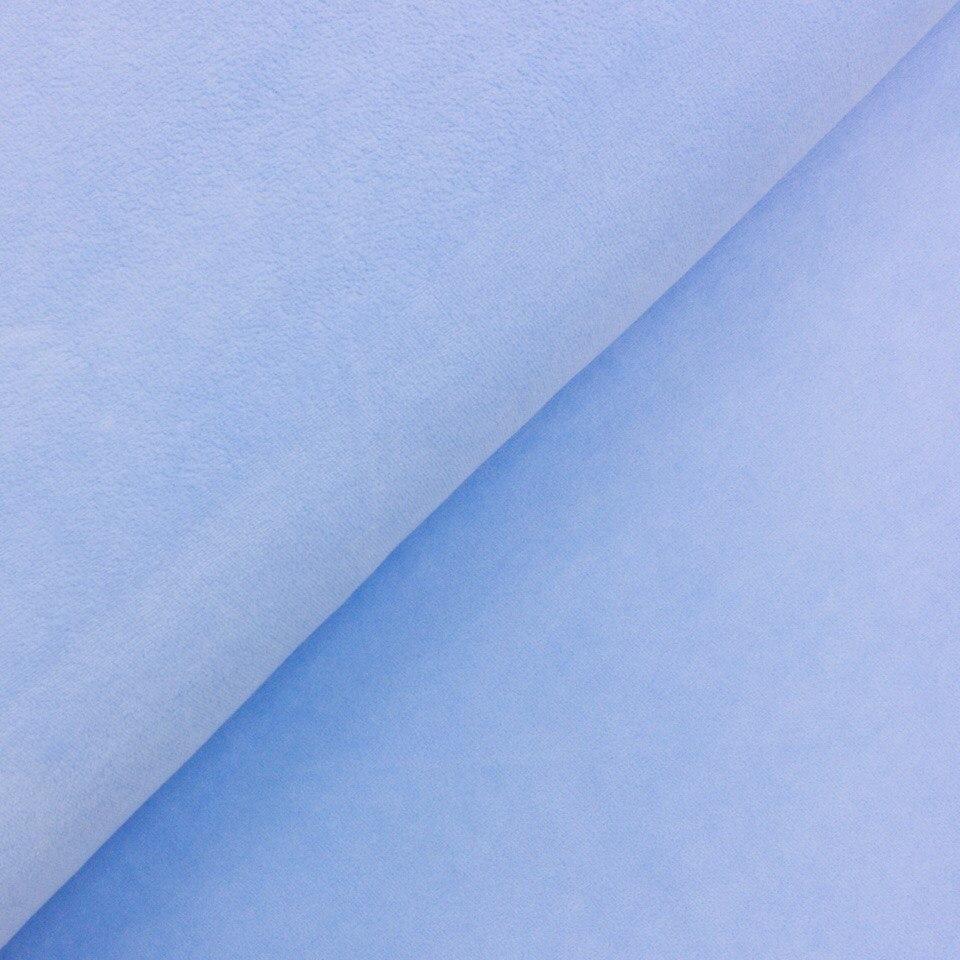 Велюр (плюш) хлопок -  голубой