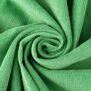 Вельвет в рубчик - ярко-зеленый